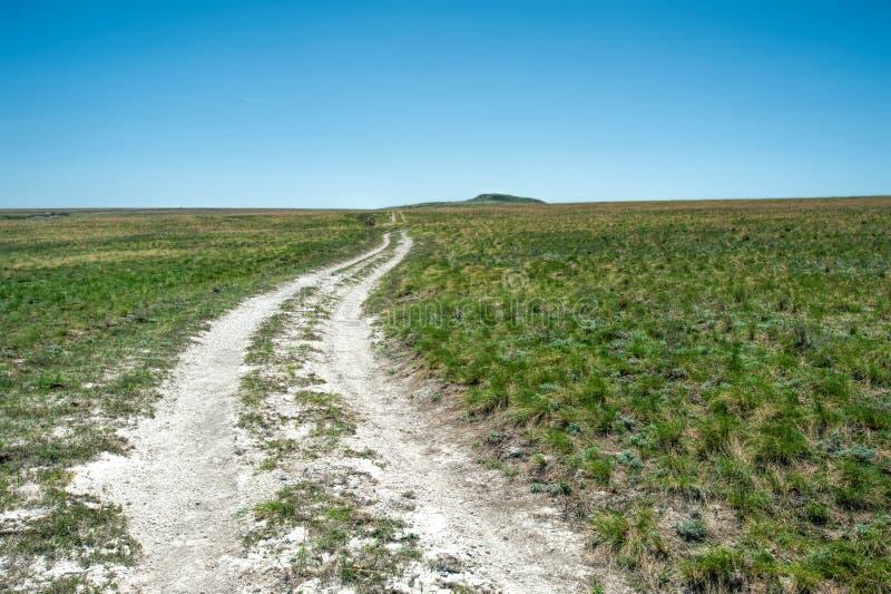 Белая дорога в горах мела Дон стоковые фотографии rf