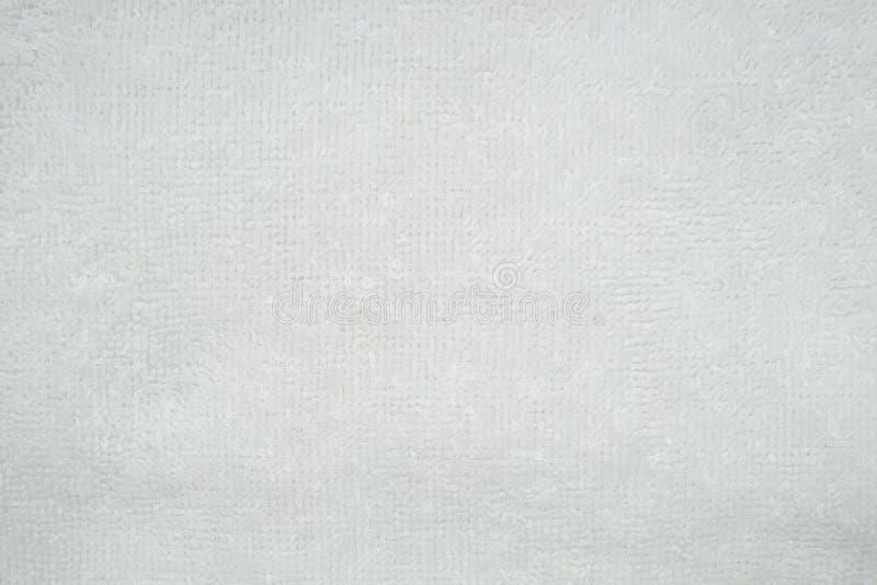 Белая естественная предпосылка полотенца хлопка, текстура фото крупного плана стоковые изображения