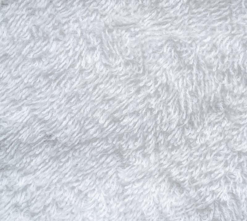 Белая естественная предпосылка текстуры картины полотенца хлопка стоковые изображения