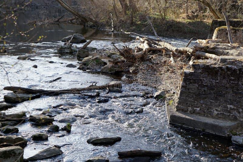 Белая заводь глины в Делавере стоковое фото rf