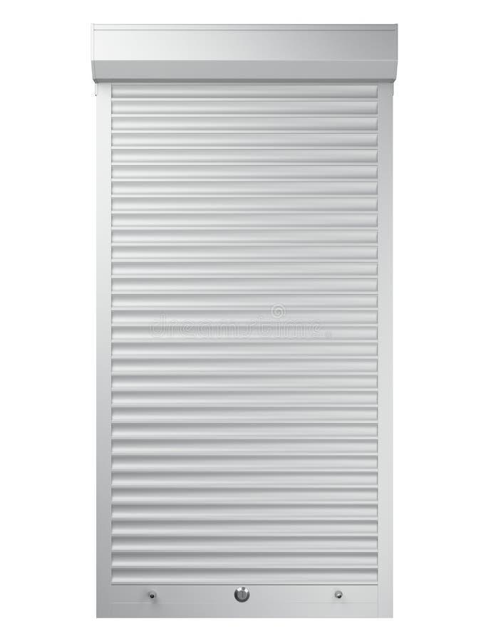 Белая закрытая штарка ролика Вид спереди иллюстрация вектора