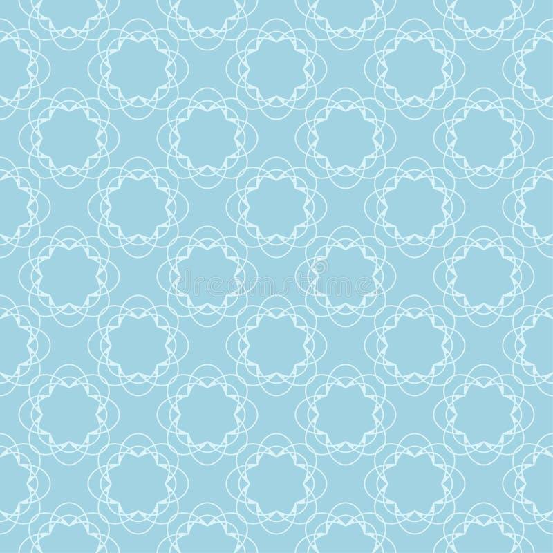 Белая и голубая флористическая безшовная картина бесплатная иллюстрация