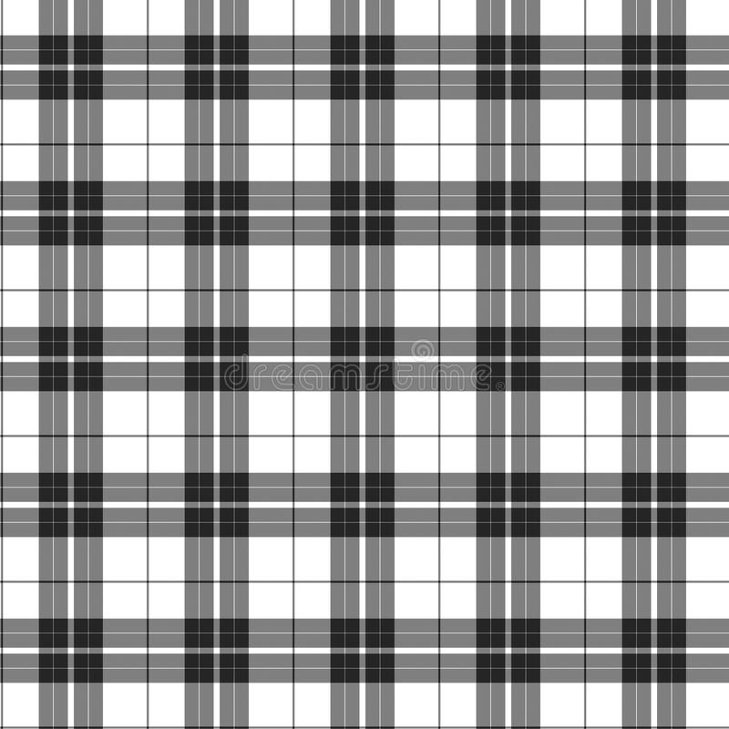 Белая и черная предпосылка ткани шотландки бесплатная иллюстрация