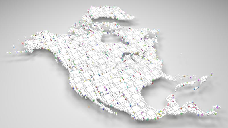 Белая карта Северной Америки бесплатная иллюстрация