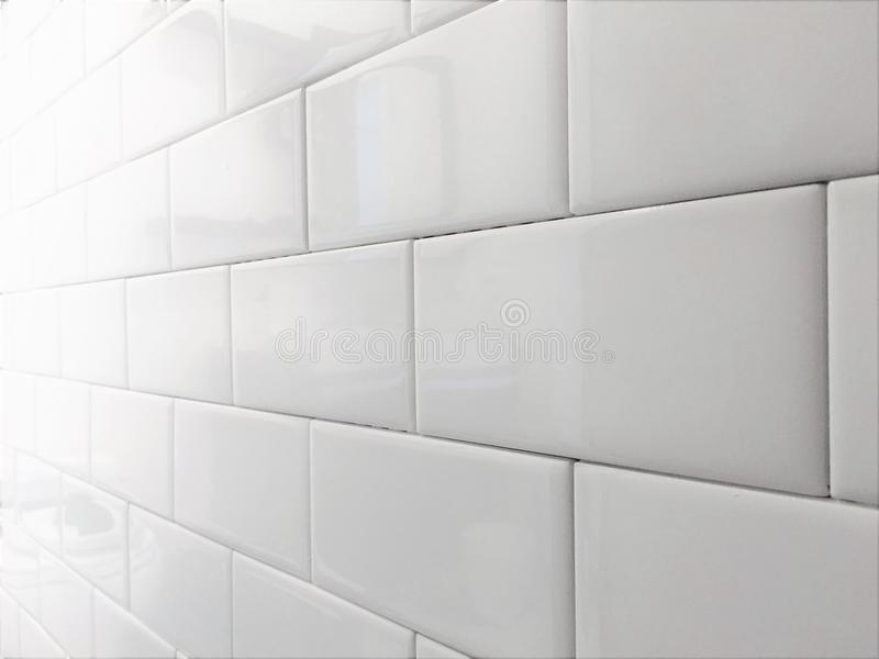 Белая картина метро Backsplash плитки стоковая фотография rf