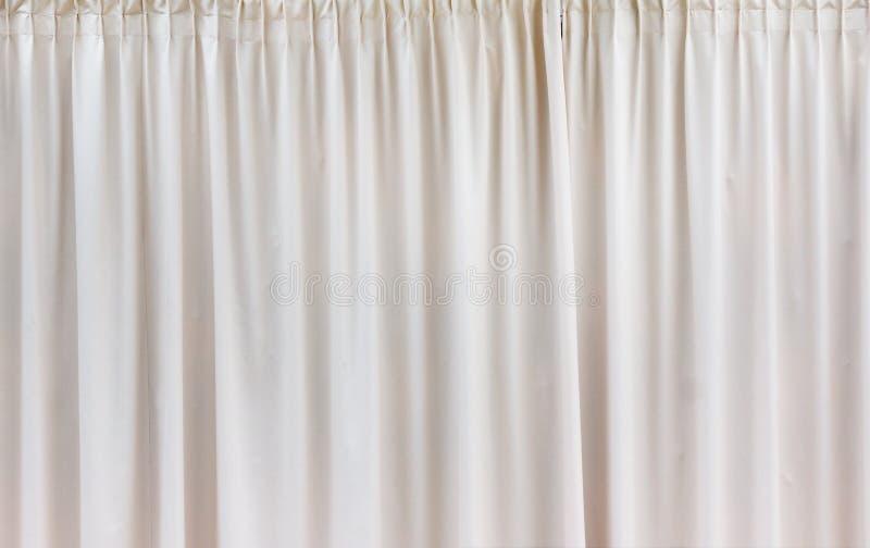 Белая картина ткани предпосылки занавеса стоковое изображение rf