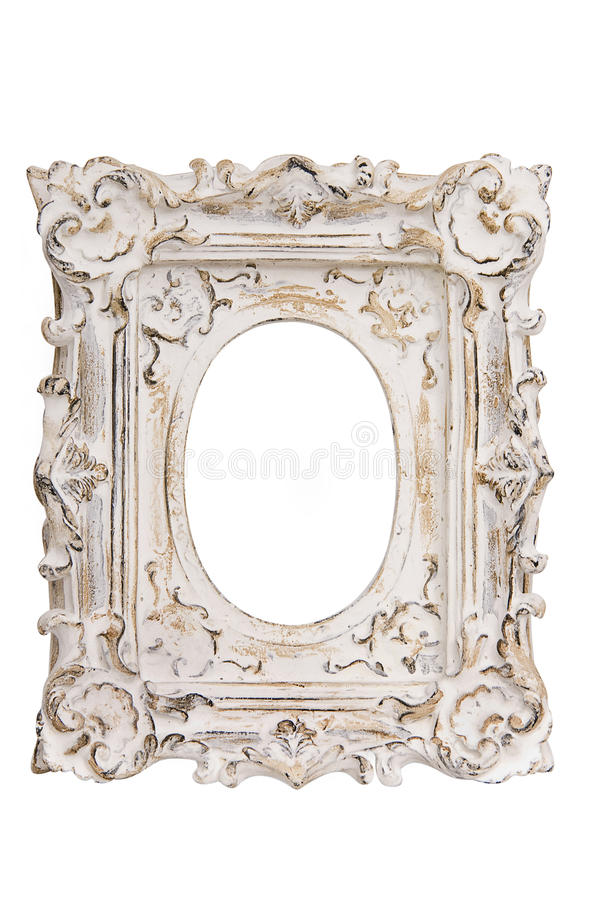 Белая картинная рамка стоковые изображения rf