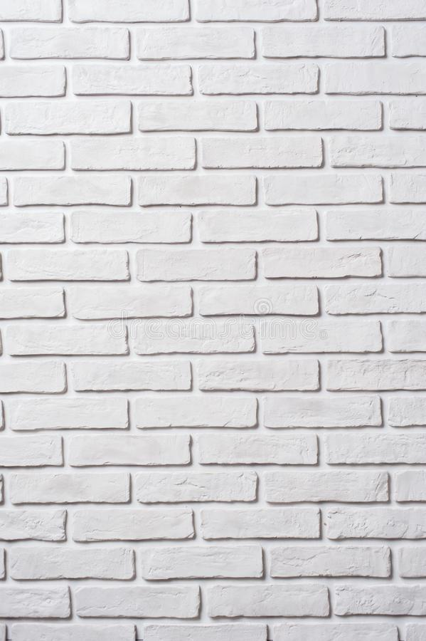 Белая кирпичная стена Предпосылка блока стоковое фото rf
