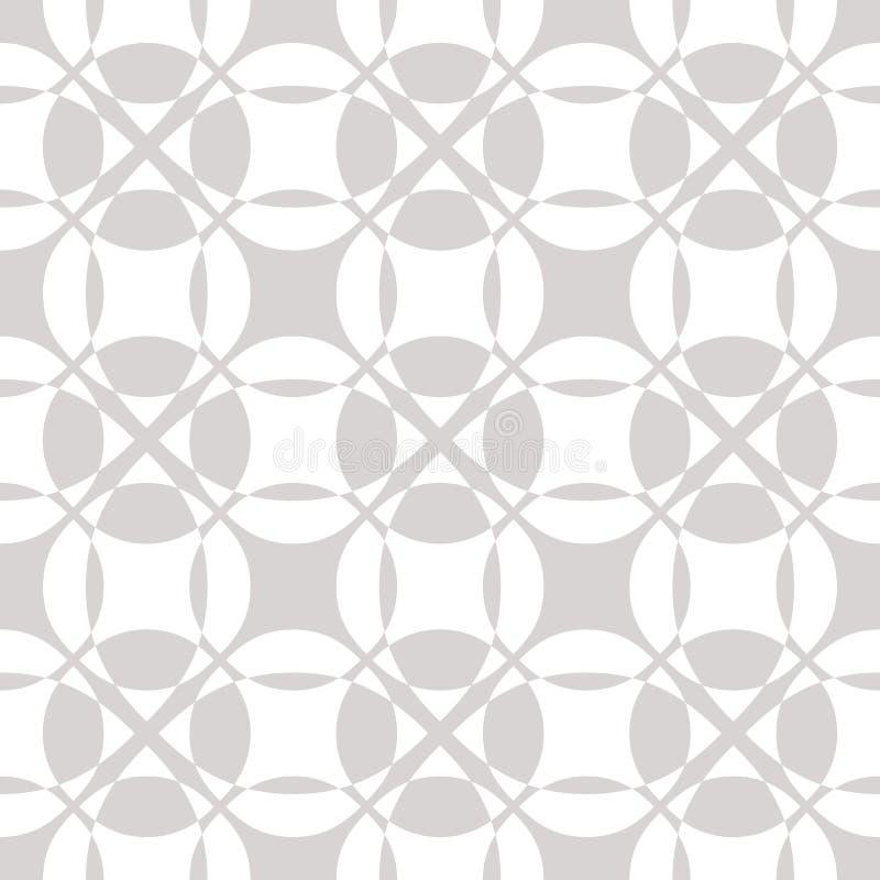 Белая конспекта вектора геометрическая и серая безшовная картина с из иллюстрация штока