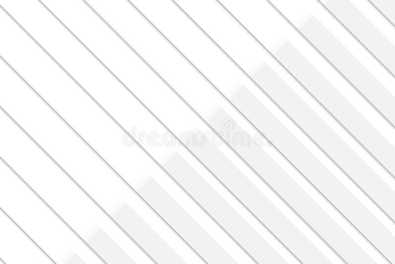 Белая конспекта геометрическая и серая предпосылка цвета, иллюстрация вектора иллюстрация штока
