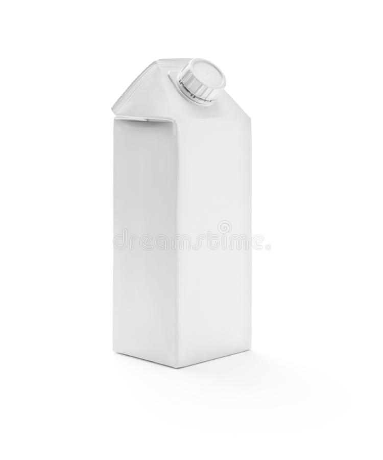 Белая коробка молока стоковая фотография rf