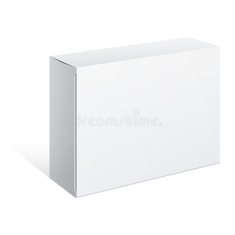 Белая коробка пакета. Для ПО, электронное устройство иллюстрация вектора