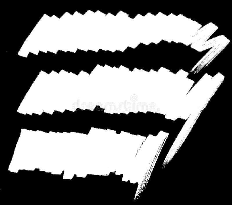 Белая линия отметка силуэта на черной предпосылке иллюстрация штока