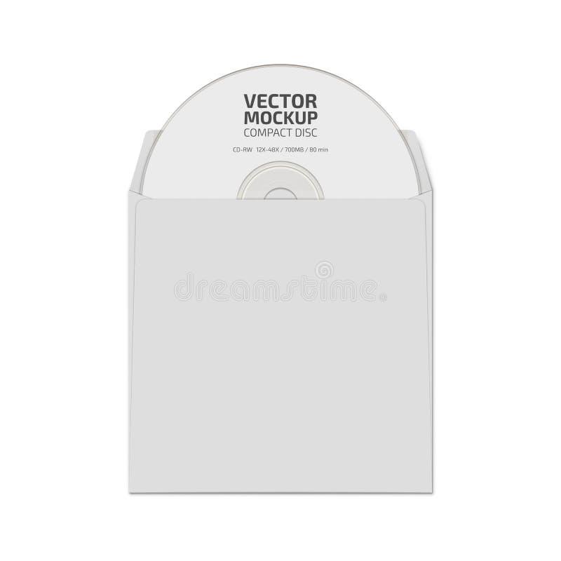 Белая насмешка компакт-диска пробела вверх по вектору стоковые фото