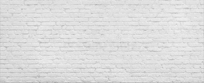 Белая панорама кирпичной стены стоковые фотографии rf