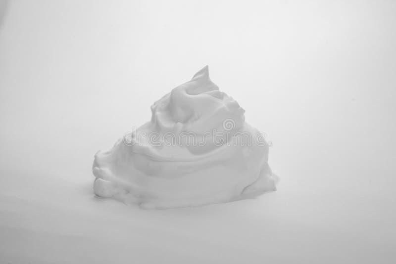 Белая пена пузыря на белой предпосылке стоковая фотография rf