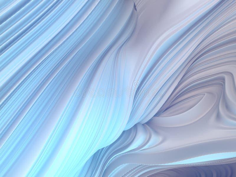 Белая переплетенная форма 3D произведенные компьютером абстрактные геометрические представляют иллюстрацию иллюстрация вектора