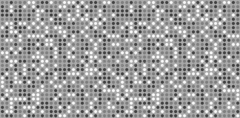 Белая плитка мозаики круга Безшовная картина ставит точки предпосылка иллюстрация вектора