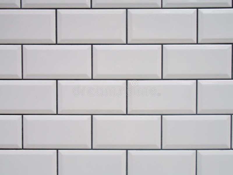 Белая плитка с черными соединениями стоковое изображение