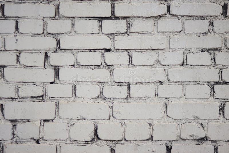 Белая предпосылка в форме кирпичной стены стоковая фотография
