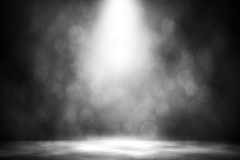 Белая предпосылка дыма bokeh фары стоковая фотография