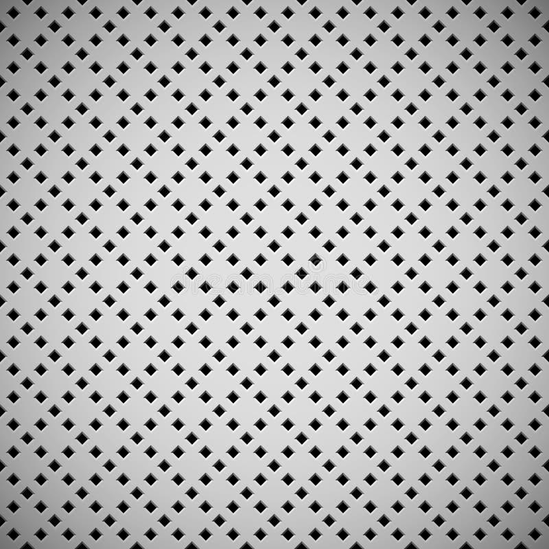 Белая предпосылка с пефорированной картиной стоковые фотографии rf
