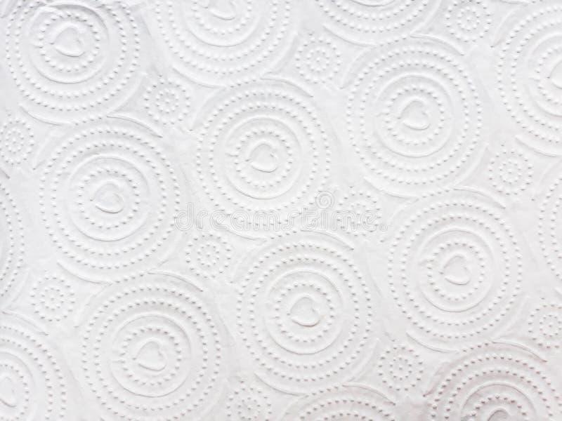 Белая предпосылка с точками и мотивами сердца стоковая фотография rf