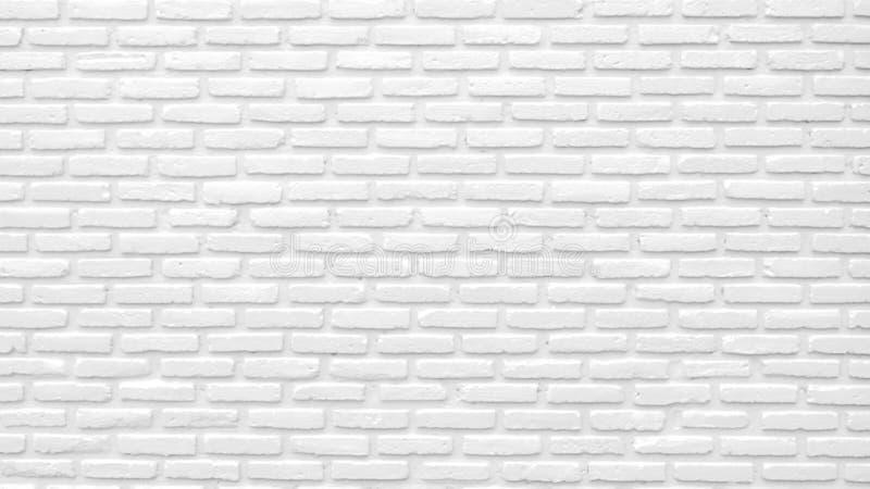 Белая предпосылка текстуры кирпичной стены с космосом для текста Белые обои кирпичей Домашнее внутреннее художественное оформлени стоковые фотографии rf
