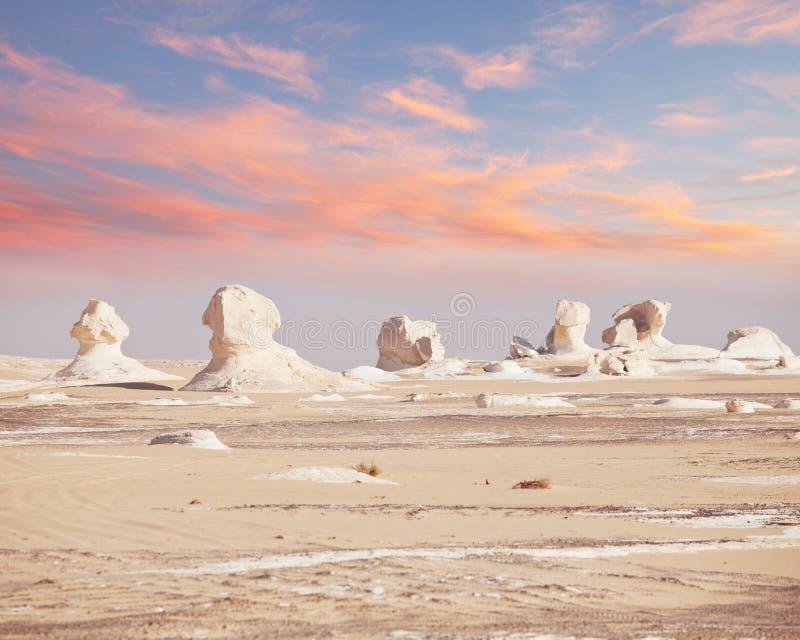 Белая пустыня в Египете стоковое фото