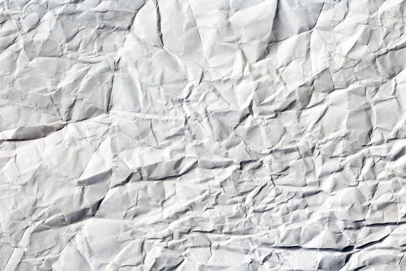 Белая скомканная бумажная текстура стоковая фотография rf