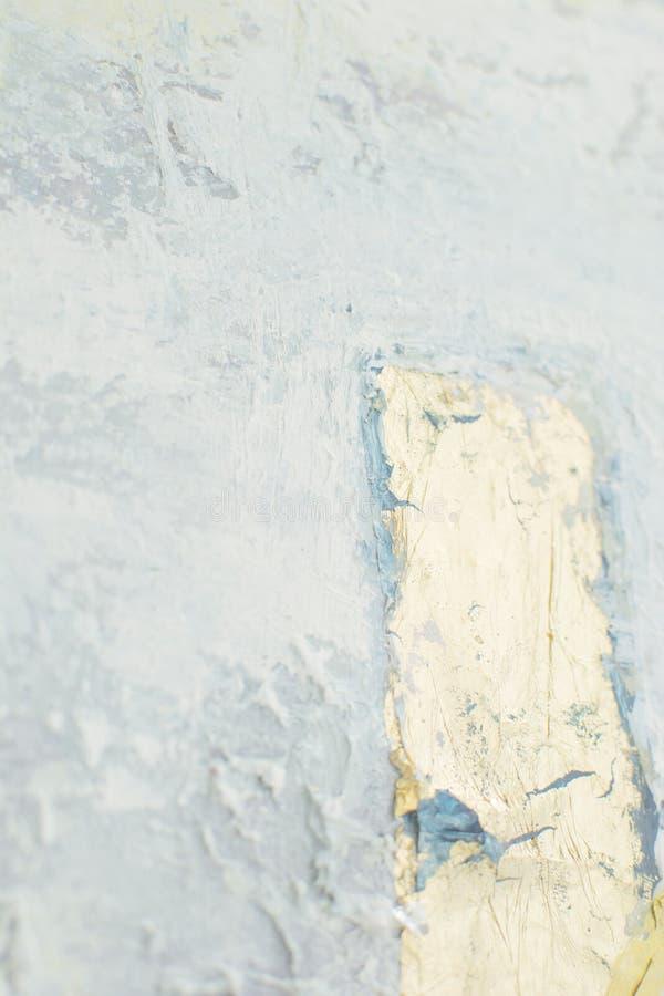 Белая снежная текстура с пастельными элементами живописи стоковые изображения rf
