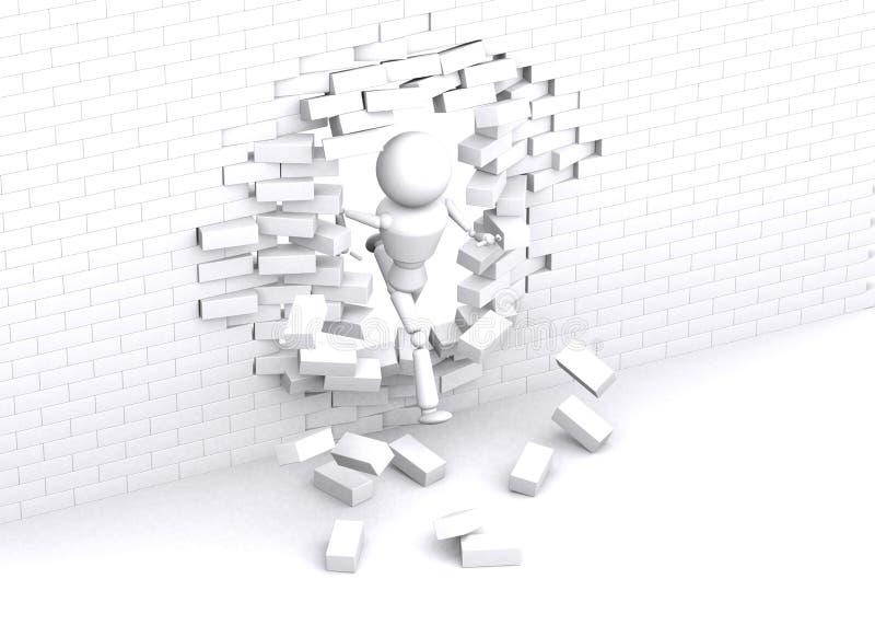 Белая стена. иллюстрация штока