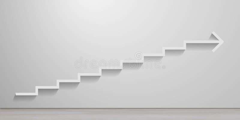 Белая стрелка лестниц бесплатная иллюстрация
