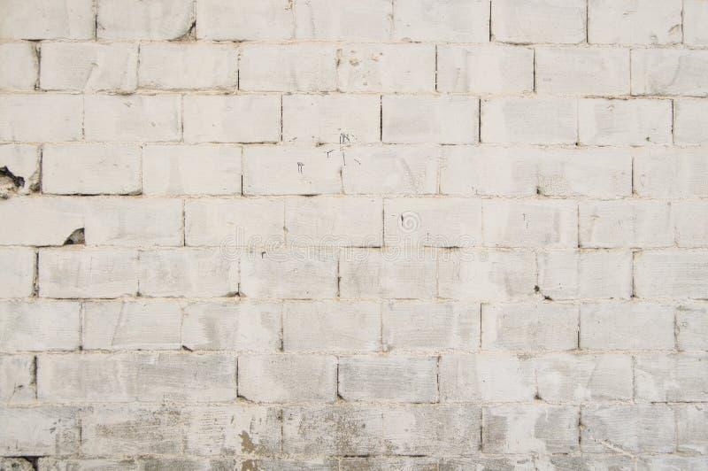 Белая текстура кирпичной стены для произведения искусства предпосылки и дизайна стоковое изображение