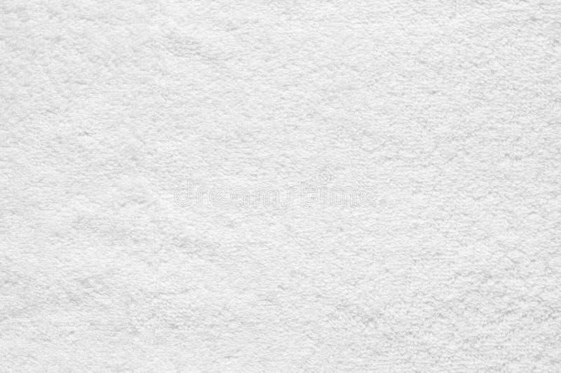 Белая текстура ткани Terry стоковые фотографии rf
