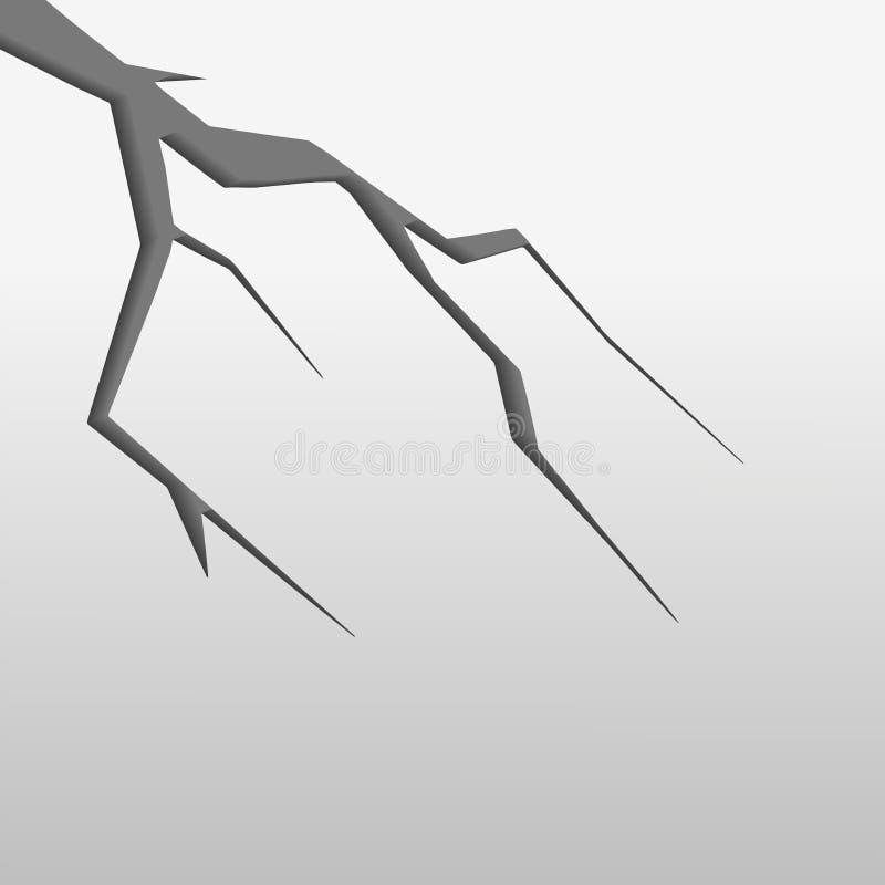 Белая треснутая стена после проиллюстрированного землетрясения бесплатная иллюстрация