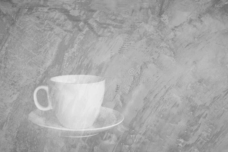 Белая чашка и белый поддонник иллюстрация штока