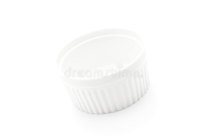 белая чашка шара стоковое изображение