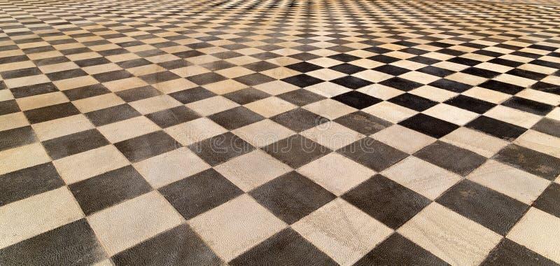 белая черная предпосылка картины текстуры плиточного пола стоковое фото rf