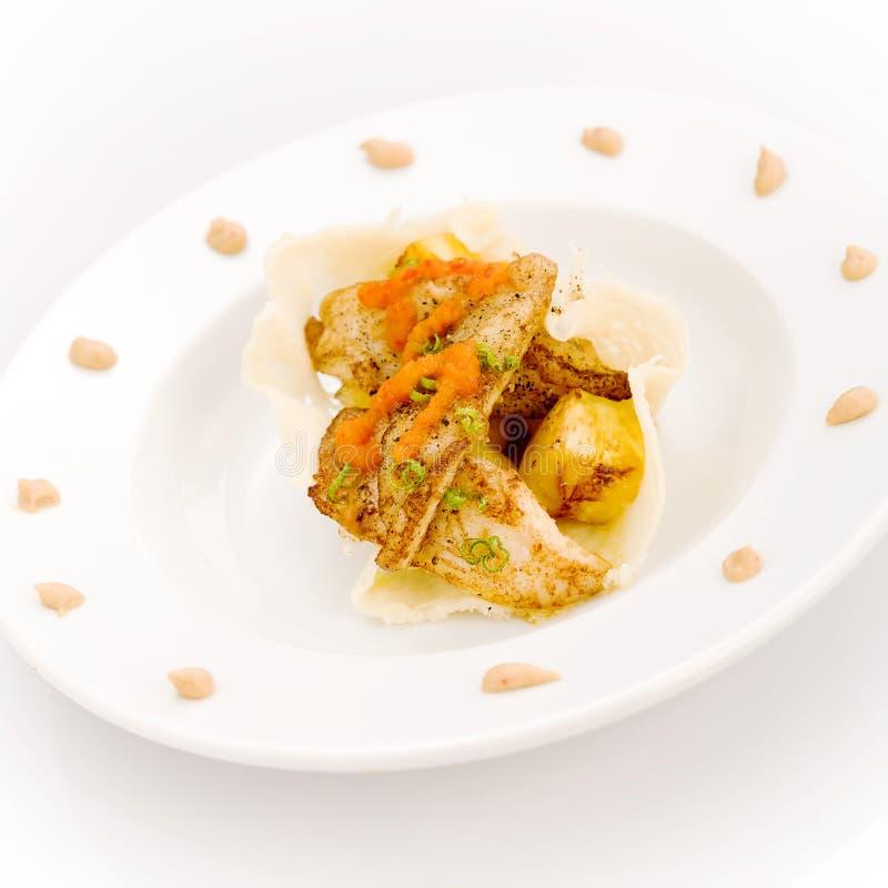 белизна ананаса рыб стоковая фотография