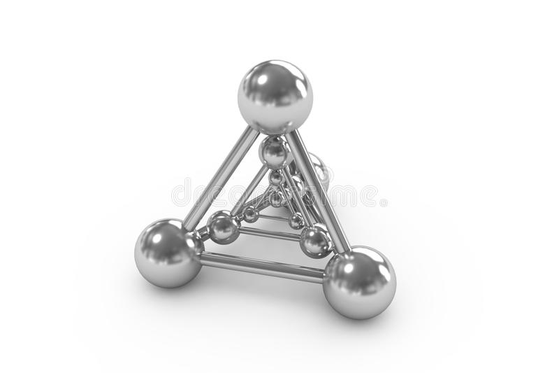 белизна атома иллюстрация вектора