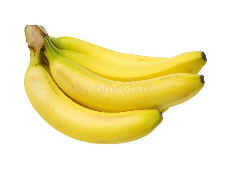 белизна банана предпосылки изолированная пуком стоковые фотографии rf