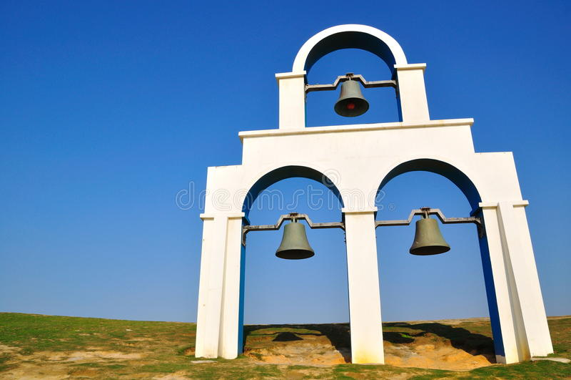 белизна башни колокола стоковое фото