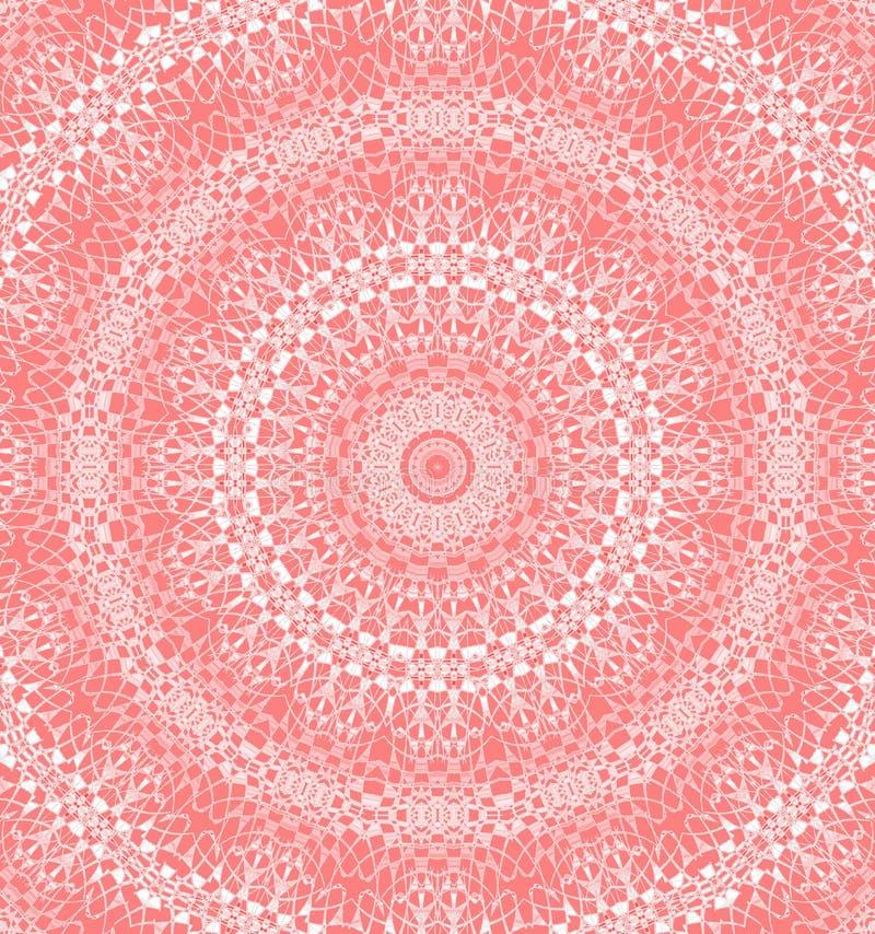 Белизна безшовного пинка орнамента концентрического круга красная бесплатная иллюстрация