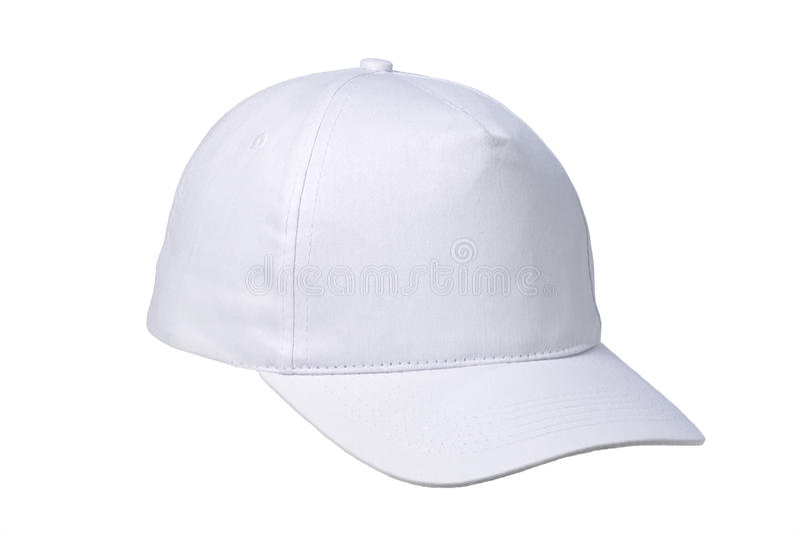 белизна бейсбольной кепки стоковая фотография rf