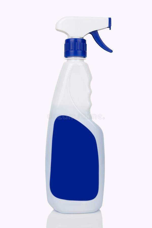 белизна брызга чистки бутылки стоковое фото rf
