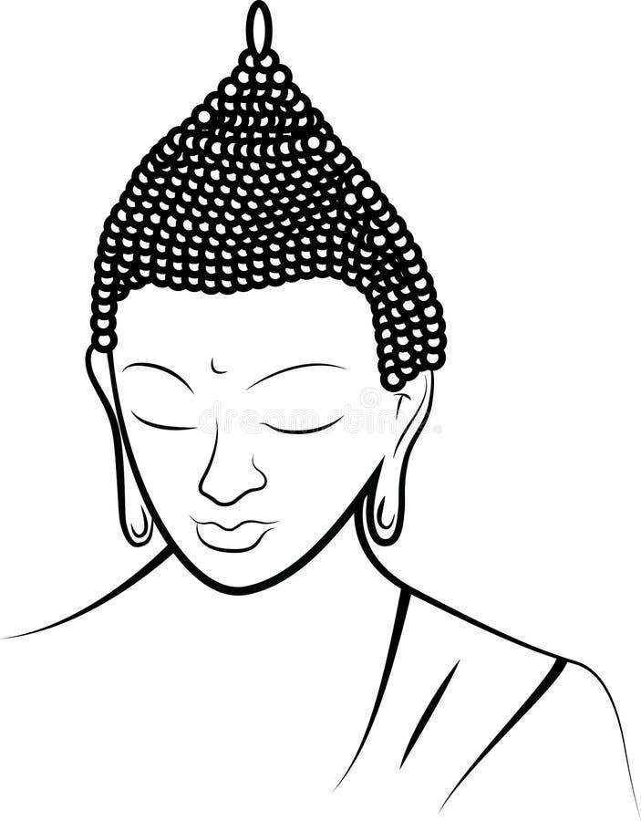 белизна Будды предпосылки иллюстрация штока