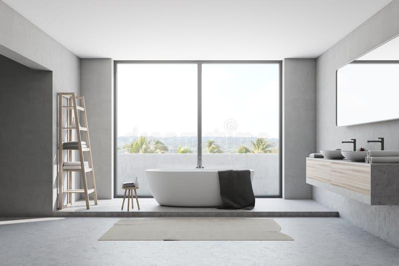 белизна ванной комнаты нутряная бесплатная иллюстрация