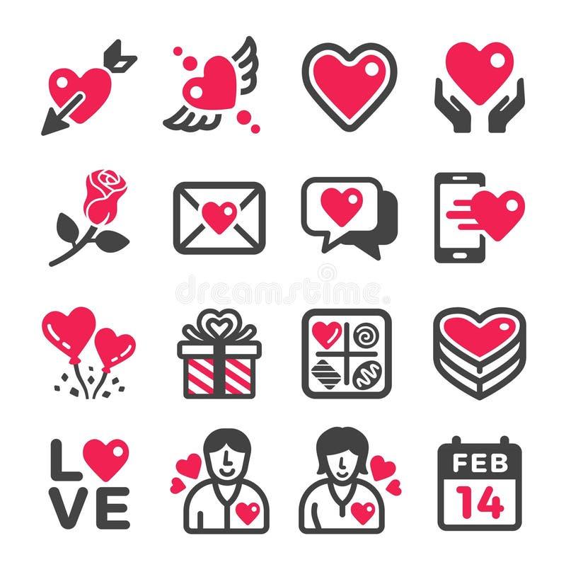 белизна вектора Валентайн клубники формы иконы сердца печенья шоколада предпосылки изолированная иллюстрацией установленная бесплатная иллюстрация