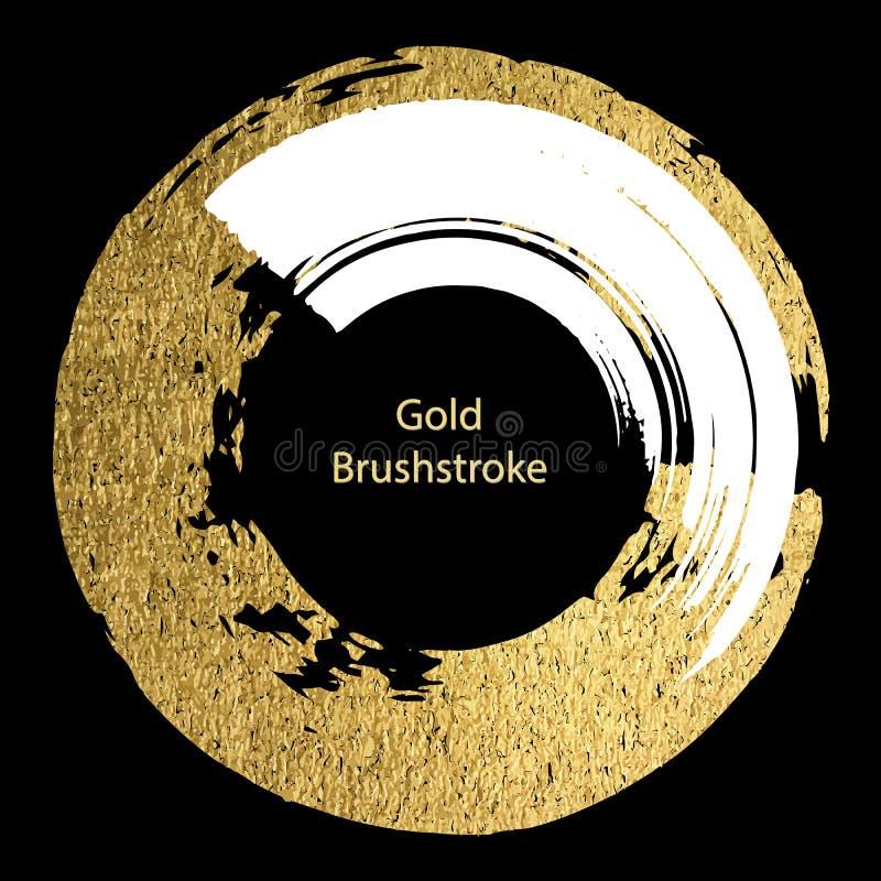 Белизна вектора и brushstroke золота Шаблоны дизайна для брошюры иллюстрация вектора